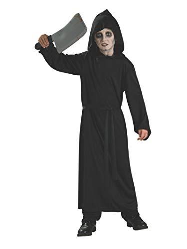 Black Robe Halloween Costume (Rubie's Haunted House Child's Black Horror Robe,)