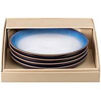 Denby Blue Haze Set of 4 Medium Coupe Plates