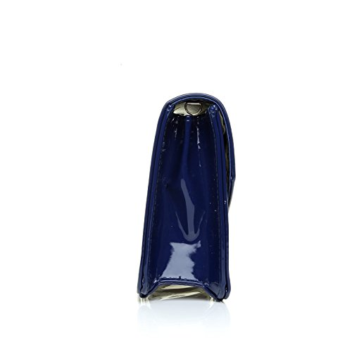 Tamaño Azul Marina Suerte Bolsa Medio Patente Embrague De twqUPqO