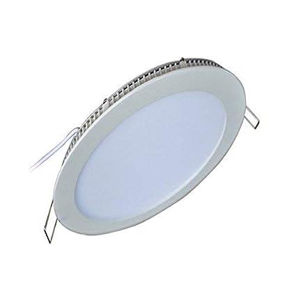 ¡¡¡LIQUIDACIÓN!!! Downlight led extraplano de 12W 1100-1200 lúmenes, apertura de 120º, Diámetro de corte: 155mm, diámetro total: 170mm. Color de luz ...