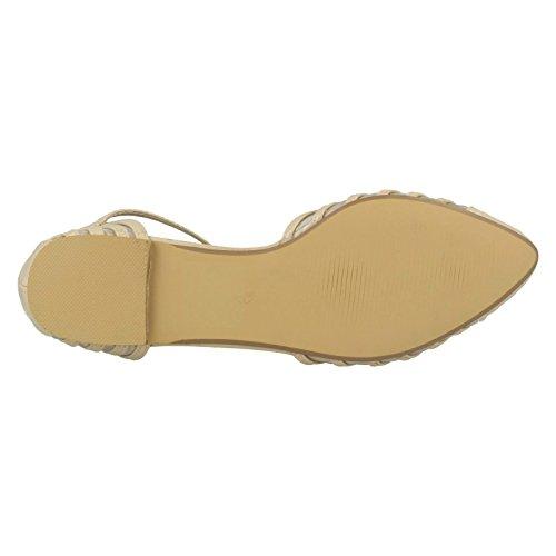 Spot On Womens/Ladies Buckle Fasten Casual Summer Sandals Nude (Beige) OEsTlJ