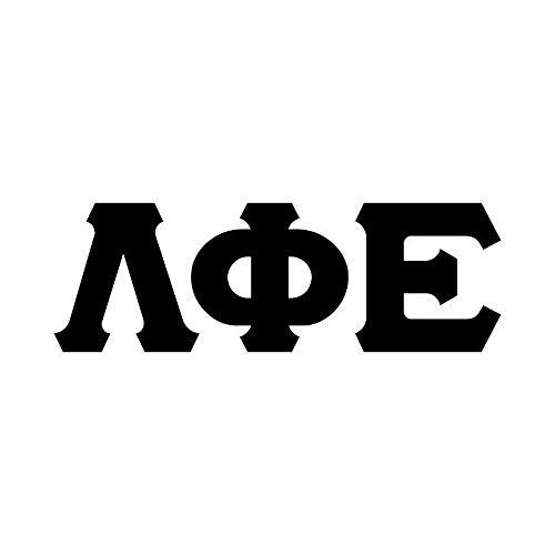 (Lambda Phi Epsilon Big Greek Letter Window Sticker Decal Black)
