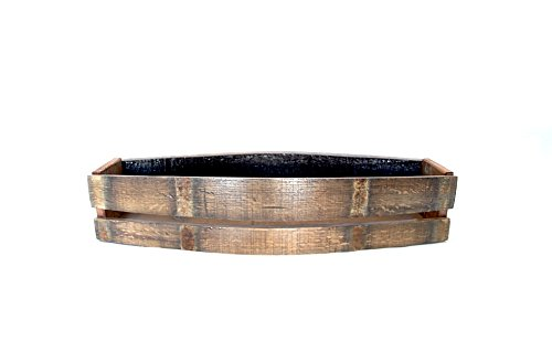 Valley Baskets Napa (Wine Barrel Stave Potting Tray - Garden Box - Flower Box - Hand-Made From a Napa Valley Vineyard - Wine Barrel Stave Basket)