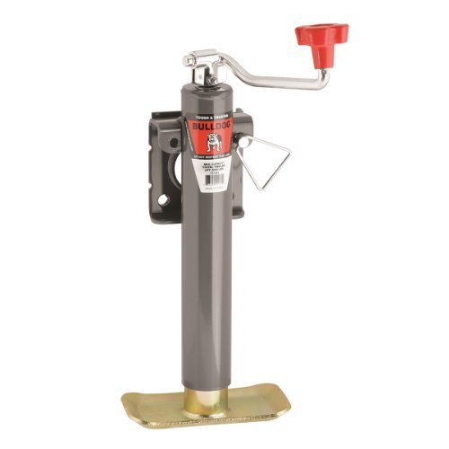 Fulton Weld-On Jack, Topwind, 10-Inch Travel, Weld-On Bend Swivel Bracket, 5000-Pound Lift Capacity with Base (Trailer Jack Snap Ring)
