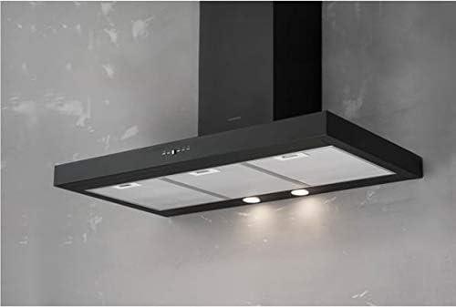 Silverline 3170 90 - Campana extractora de cocina (tipo de pared, 90 cm), color negro: Amazon.es: Grandes electrodomésticos