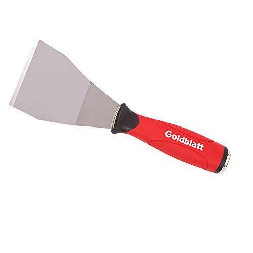 Goldblatt G02729 3-in Stainless Steel Bent Scraper, Soft Grip