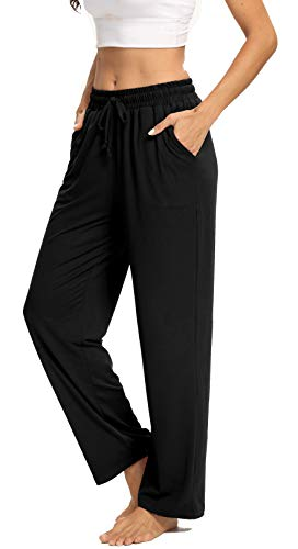 ARRIVE GUIDE Womens Yoga Sweatpants Comfy Lounge Pants with Pockets Wide Leg Loose Workout Joggers Casual Pajama Pants