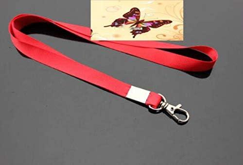 10 St/ück 1,5 cm Breite buntes flaches gewebtes Umh/ängeband mit Karabinerschnalle Single Neck Strap f/ür Gym Key Namensschild Ausweishalter USB Flash Drive Key ID Card Farbe zuf/ällig