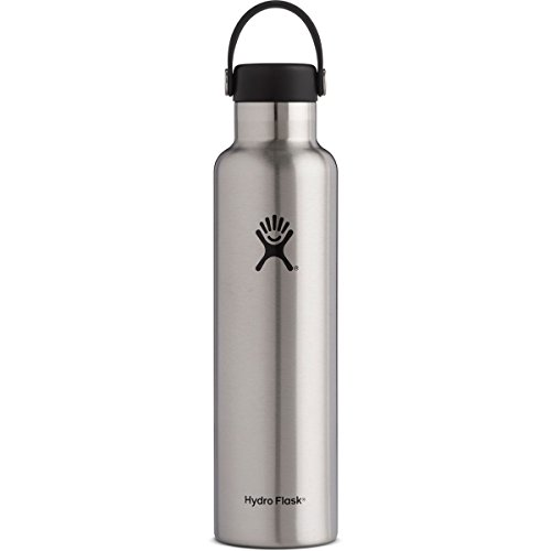Hydro Flask 24 oz Double Wall Vacuum Insulated Stainless Steel Leak Proof Sports Water Bottle, Standard Mouth with BPA Free Flex Cap, Sage
