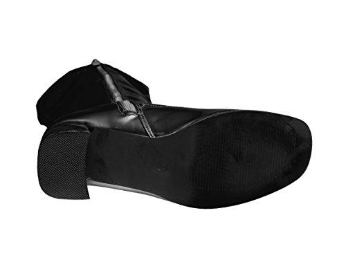 UK 11 3 High Sizes to Go Knee Go UK Boots Black ZO0Agwwq