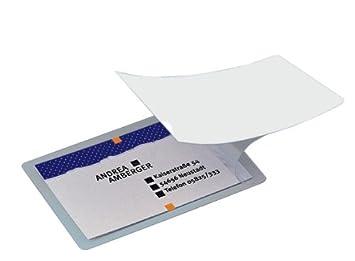 Sigel VZ215 Lot De 100 Pochettes Pour Cartes Visite Plastification A Froid 8