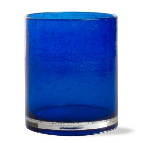 (Cobalt Blue Bubble Glass Double Old Fashioned, By Tag)