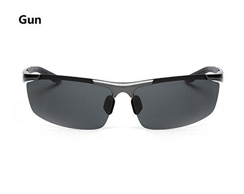 Deportivas Rongjuyi Gafas Gun Gun de polarizadas Aluminio magnesio Bicicleta Color Gafas Aleación Sol Gafas Montar Hombres de en de y vvrnwRzAxq