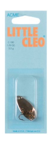 Acme Little Cleo Fishing Terminal Tackle, 1/8-Ounce, Copper