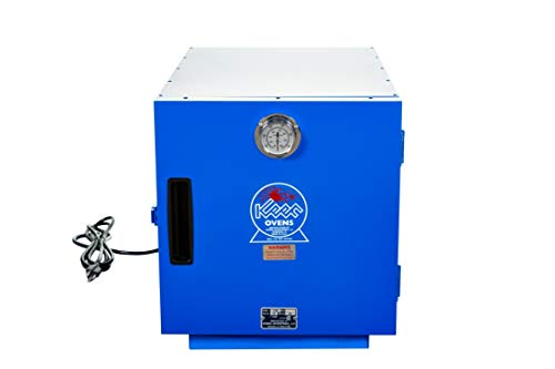 Keen K-200 Bench Welding Rod Oven - 120V 1-Ph - Max Temp 300F - Made in USA - 200 lb. Capacity - CSA-listed - with Factory-Installed Analog Thermometer