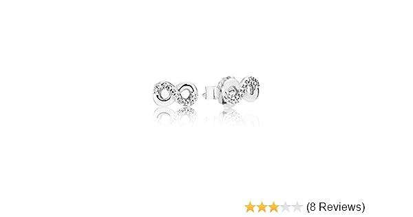 0b13a5629 Amazon.com: Pandora Women's Infinite Love Stud Earrings - 290695CZ: Jewelry