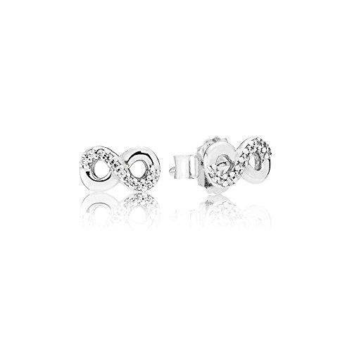Pandora Women's Infinite Love Stud Earrings - 290695CZ