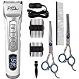 Best Dog Clippers Sets - WWVVPET Professional Hair Grooming Kit,Quiet Cordless Rechargeable Detachable Review
