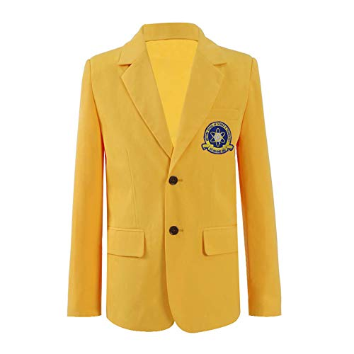 Peter Parker Blazer Cosplay Costumes Yellow Jackets Outwear Suits (XX-Small, Yellow-Men) -