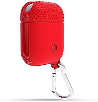 Airpods Case 2 Generación Universal Auriculares Bluetooth Inalámbricos Apple Aplicables Estuche De Silicona Airpods Anticaída Carga con Cable De 12 Generaciones Universal Rojo (Caja Neutra): Amazon.es: Electrónica
