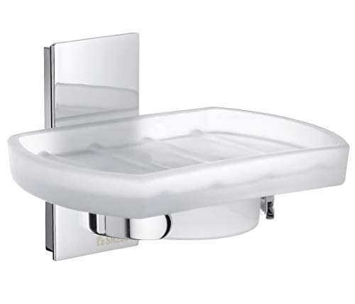 Smedbo Pool Holder with Soap Dish ZK342 Polished Chrome .Include Glue.Fixing Without Drilling - Soap Dish Smedbo
