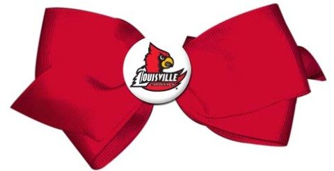 Game Day Outfitters 1937120 Louisville - Ladies Hair Bow Barrette - Case of 144 by Game Day Outfitters