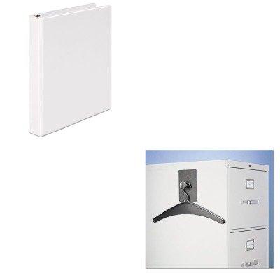 KITQRT2015MUNV20962 - Value Kit - Quartet Magnetic Coat Hook w/Heavy-Duty Hanger (QRT2015M) and Universal Round Ring Economy Vinyl View Binder (UNV20962)