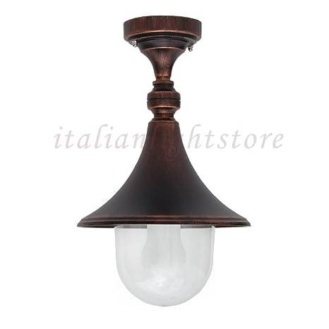 Lámpara de Techo Plafón de Techo Para Exterior de Aluminio ...