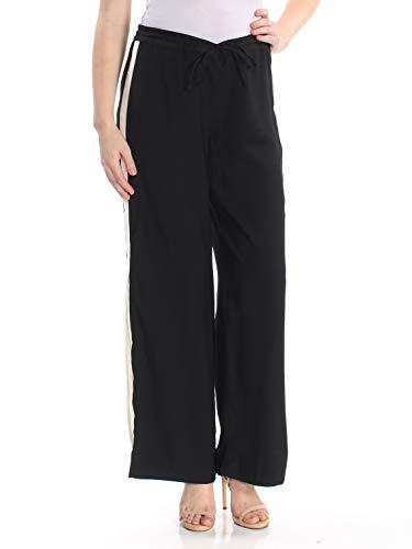 INC International Concepts Striped Wide-Leg Pants (Deep Black, XL) from INC International Concepts