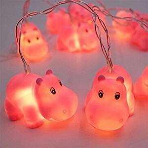 gugou 15m 10 lights battery powered cute animal spotty dog shape led string lights for - Christmas Hippo Outdoor Decoration