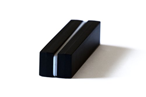Unbreakable Plastic-Coated N52 Neodymium Bar Magnets, Waterproof, 3 x 1/2 x 1/4 Inch. 2-Pack. Revitalizaire Strong Permanent NdFeB Rare Earth Magnets Coated with Hard Black Polypropylene
