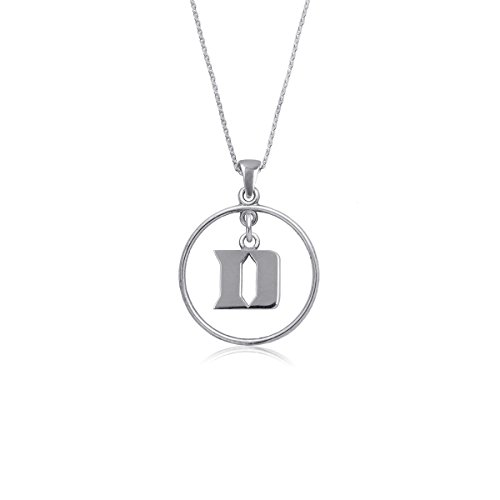 Duke University Blue Devils Sterling Silver Jewelry by Dayna Designs (Open Drop Necklace)