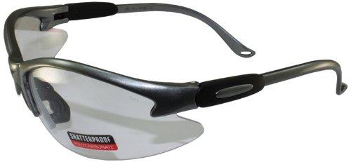 Global Vision Safety Shop Glasses (Grey Frame/Clear Lens)