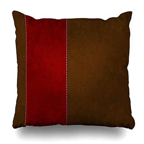 Ahawoso Throw Pillow Cover Square 18x18 Inches Red