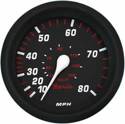 Faria Professional Red Speedo 80 MPH by Faria