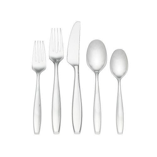 Dansk Dinner Fork - Dansk Classic Fjord II Stainless Steel Flatware 20 Piece Set