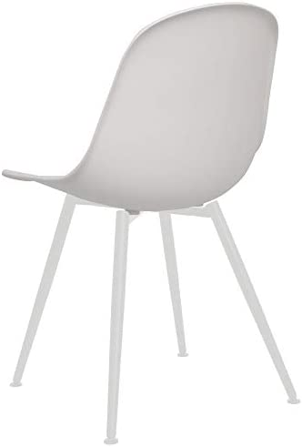 Chaise Privee™ - Chaise Scandinave Avon SNR - Brique, Blanc