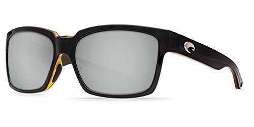 Costa Del Mar Playa Sunglass, Black/Amber/Silver Mir 580Plastic by Costa Del Mar