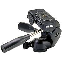 SLIK 700DX Pro 3-Way Pan/Tilt Head with Quick Release, Black (615-700)
