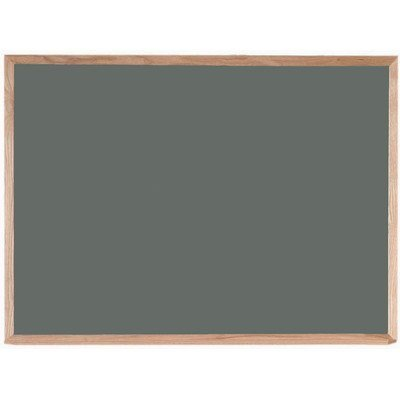 Gray Chalkboard with Wood Frame Size: 3' H x 4' L by Aarco