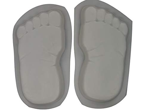 Huge 16 Inch Footprints Bare Feet Stepping Stone Concrete Mold Set - Foot Concrete