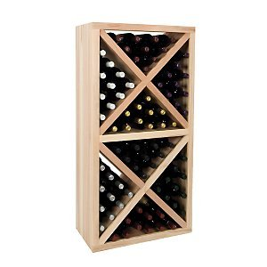 Individual Diamond Rack (Vintner Series Wine Rack - Solid Diamond Cube w/Face Trim -Redwood)