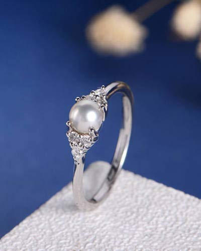Women Jewelry Moonstone 925 Silver Ring Wedding Engagement Bridal Jewelry Sz6-10