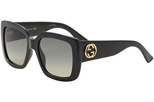 Gucci GG0141S 001 Black GG0141S Square Sunglasses Lens Category 2 Size - Gucci Women Shades