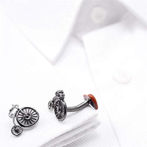 絶妙な メンズシャツウェディングギフト用メンズクラシックバイク自転車シャツのカフスボタン、