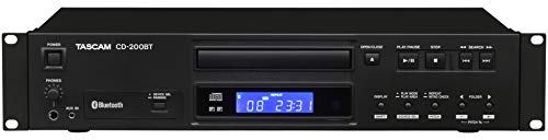 Tascam CD-200BT Rackmount Professional CD Player with Bluetooth - Controller Cd Player