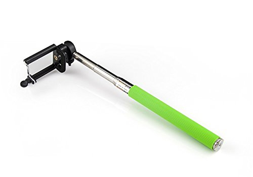 Landee@Extendable Self palo Selfie Stick Handheld Monopod +Clip Holder+Bluetooth Camera Shutter Controller foriPhone 6, iPhone 6 Plus, iPhone 5 5s 5c, Android (zh-0013)