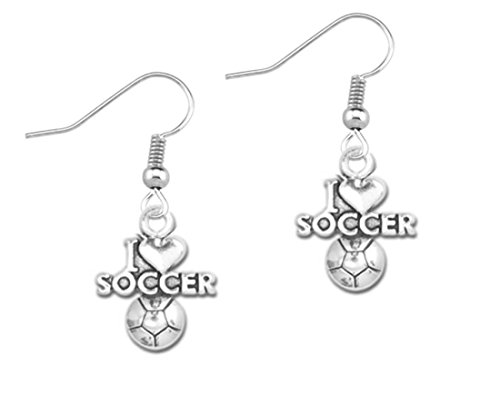 Infinity Collection Soccer Earrings, I Love Soccer Jewelry, Perfect Soccer Gifts for Her