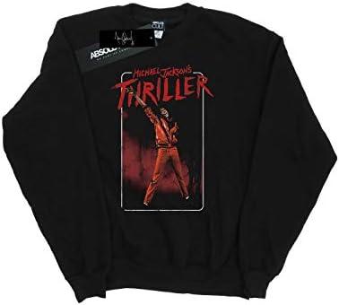 Absolute Cult Michael Jackson Herren Thriller Red Sweatshirt Schwarz Medium