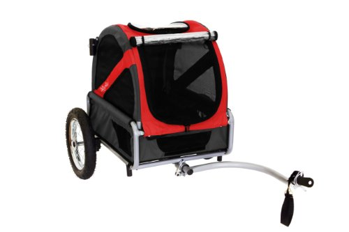 (DoggyRide Mini Dog Bike Trailer, Rebel Red/Black)